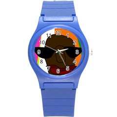 Cool Round Plastic Sport Watch (S) by Valentinaart