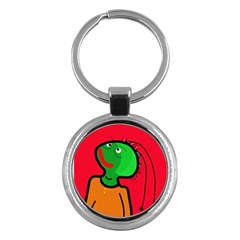 Looking Up Key Chains (round)  by Valentinaart