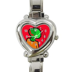 Looking Up Heart Italian Charm Watch by Valentinaart