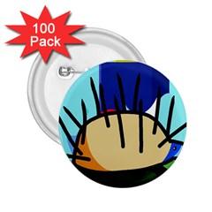 Hedgehog 2 25  Buttons (100 Pack)  by Valentinaart