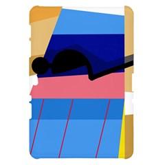 Jumping Samsung Galaxy Tab 10.1  P7500 Hardshell Case  by Valentinaart
