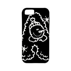 Funny Snowball Doodle Black White Apple Iphone 5 Classic Hardshell Case (pc+silicone) by yoursparklingshop