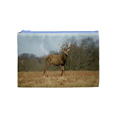 Red Deer Stag On A Hill Cosmetic Bag (medium)  by GiftsbyNature