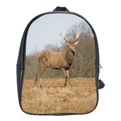 Red Deer Stag On A Hill School Bags(large)  by GiftsbyNature