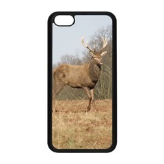 Red Deer Stag On A Hill Apple Iphone 5c Seamless Case (black) by GiftsbyNature