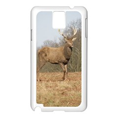Red Deer Stag On A Hill Samsung Galaxy Note 3 N9005 Case (white) by GiftsbyNature