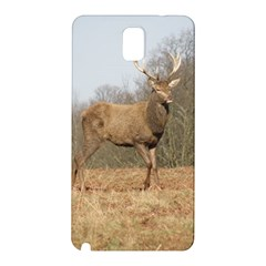 Red Deer Stag On A Hill Samsung Galaxy Note 3 N9005 Hardshell Back Case by GiftsbyNature