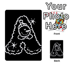 Funny Snowball Doodle Black White Multi Purpose Cards (rectangle)
