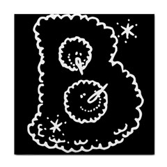Funny Black And White Doodle Snowballs Face Towel by yoursparklingshop