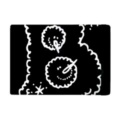 Funny Black And White Doodle Snowballs Apple Ipad Mini Flip Case by yoursparklingshop