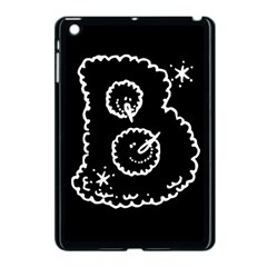 Funny Black And White Doodle Snowballs Apple Ipad Mini Case (black) by yoursparklingshop