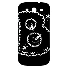 Funny Black And White Doodle Snowballs Samsung Galaxy S3 S Iii Classic Hardshell Back Case by yoursparklingshop