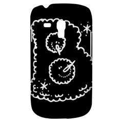 Funny Black And White Doodle Snowballs Samsung Galaxy S3 Mini I8190 Hardshell Case by yoursparklingshop