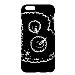 Funny Black And White Doodle Snowballs Apple Iphone 6 Plus/6s Plus Hardshell Case by yoursparklingshop