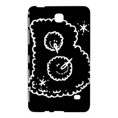 Funny Black And White Doodle Snowballs Samsung Galaxy Tab 4 (7 ) Hardshell Case  by yoursparklingshop