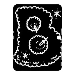 Funny Black And White Doodle Snowballs Samsung Galaxy Tab 4 (10 1 ) Hardshell Case  by yoursparklingshop