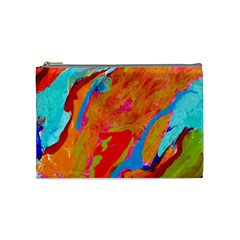 Orange Swirl Cosmetic Bag (medium) by ArtfulClothing
