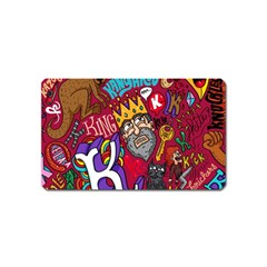K Pattern Cartoons Magnet (name Card) by AnjaniArt