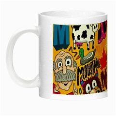 M Pattern Night Luminous Mugs