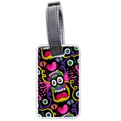 Monster Face Mask Patten Cartoons Luggage Tags (two Sides) by AnjaniArt