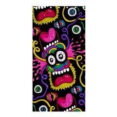 Monster Face Mask Patten Cartoons Shower Curtain 36  X 72  (stall)  by AnjaniArt