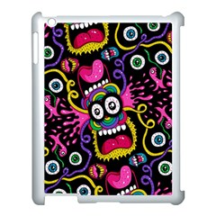 Monster Face Mask Patten Cartoons Apple iPad 3/4 Case (White) by AnjaniArt