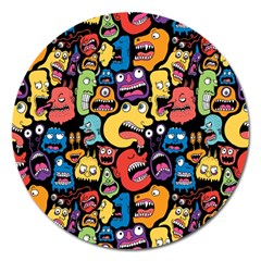 Monster Faces Magnet 5  (round)