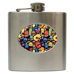 Monster Faces Hip Flask (6 oz) by AnjaniArt