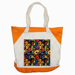 Monster Faces Accent Tote Bag