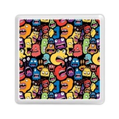 Monster Faces Memory Card Reader (square)  by AnjaniArt