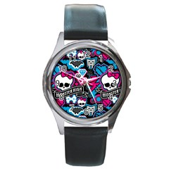 Monster High 03 Round Metal Watch by AnjaniArt