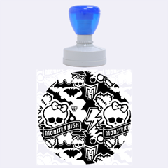 Monster High 03 Rubber Round Stamps (Large) by AnjaniArt