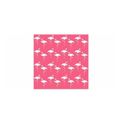 Flamingo White On Pink Pattern Satin Wrap by CrypticFragmentsColors