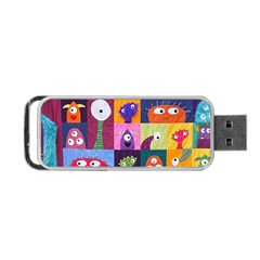 Monster Quilt Portable Usb Flash (two Sides) by AnjaniArt