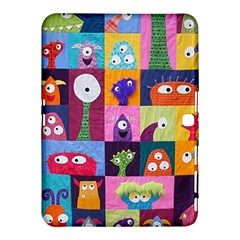 Monster Quilt Samsung Galaxy Tab 4 (10.1 ) Hardshell Case  by AnjaniArt