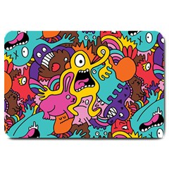 Monsters Pattern Large Doormat  by AnjaniArt