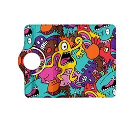Monsters Pattern Kindle Fire Hd (2013) Flip 360 Case by AnjaniArt