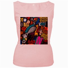 N Pattern Women s Pink Tank Top