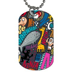 N Pattern Dog Tag (one Side)