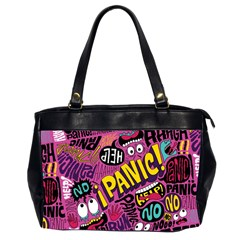 Panic Pattern Office Handbags (2 Sides)  by AnjaniArt