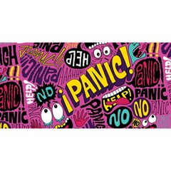 Panic Pattern You Are Invited 3d Greeting Card (8x4) by AnjaniArt