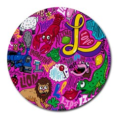 Pattern Monsters Round Mousepads by AnjaniArt