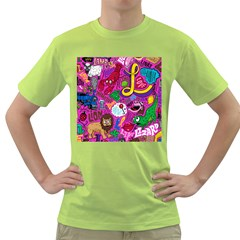 Pattern Monsters Green T Shirt