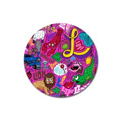 Pattern Monsters Magnet 3  (round) by AnjaniArt