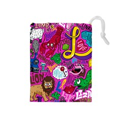 Pattern Monsters Drawstring Pouches (medium)  by AnjaniArt