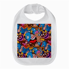 People Face Fun Cartoons Bib