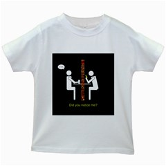 Pict Man Kids White T Shirts
