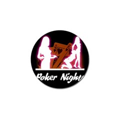 Poker Night Golf Ball Marker by AnjaniArt