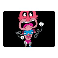 Red Cartoons Face Fun Samsung Galaxy Tab Pro 10 1  Flip Case by AnjaniArt