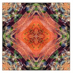Boho Bohemian Hippie Floral Abstract Faded  Large Satin Scarf (square) by CrypticFragmentsDesign